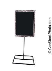 madeira, isolado, placa sinal, em branco, branca