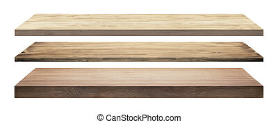 madeira, isolado, prateleiras