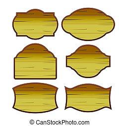 madeira, jogo, clássicas, vindima, vetorial, borda