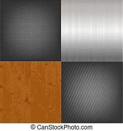 madeira, jogo, metal, fundo, textura