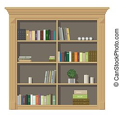 madeira, livro, gabinete