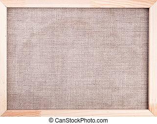 madeira, lona, quadro, fundo