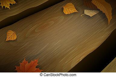 madeira, longo, banco