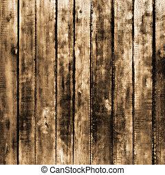 madeira, luminoso, sepia, fundo, textura