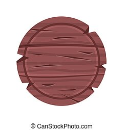 madeira, madeira, signboard., ilustração, sinal, vetorial, tábua, redondo