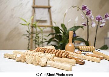 madeira, maderotherapy, anti-cellulite, equipamento, massagem