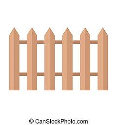 madeira, marrom, cerca