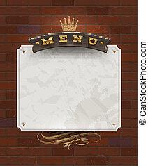madeira, menu, signboard