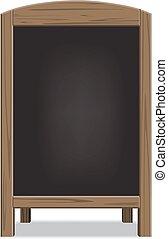 madeira, menu, vetorial, anúncio, board.