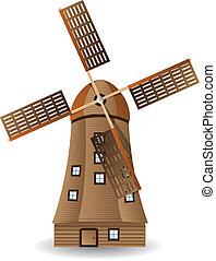 madeira, moinho de vento, antigas