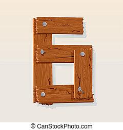 madeira, numere 6