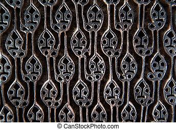 madeira, padrão, antiga, tecido, selo