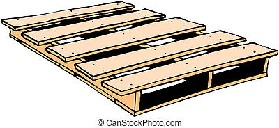 madeira, pallet, vetorial