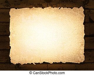 madeira, papel, queimado, fundo