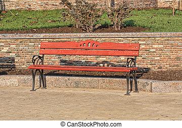 madeira, parque cidade, banco