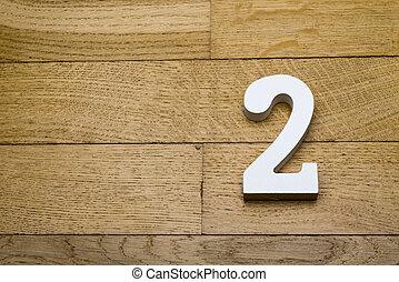madeira, parquet, número, floor., dois