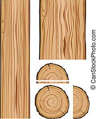 madeira, partes, textura