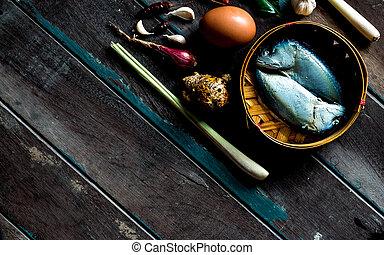 madeira, peixe, Cozinhar