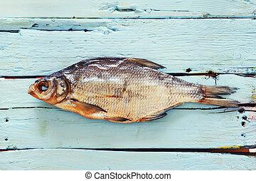 madeira, peixe, fundo