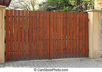 madeira, portão