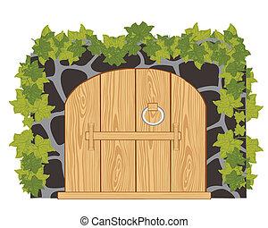 madeira, portões