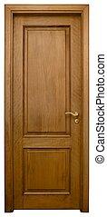 madeira, porta, 3