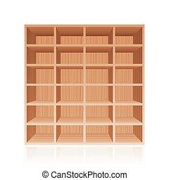 madeira, prateleira, livro, prateleira, textura