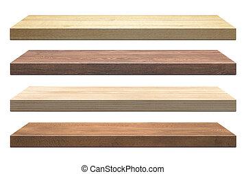 madeira, prateleiras