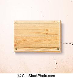 madeira, prato, experiência., concreto