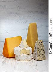 madeira, queijo, variedade, tabela