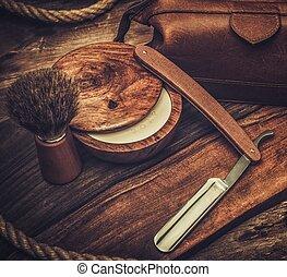 madeira, raspar, acessórios, fundo, luxo