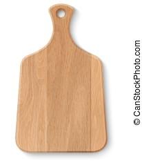madeira, realístico, tábua cortante