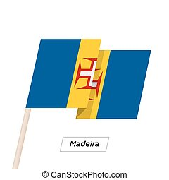 Madeira Ribbon Waving Flag Isolated on White. Vector ...