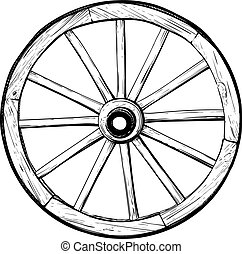 madeira, roda, antigas