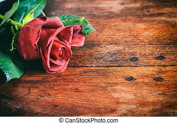 madeira,  rosÈ, vermelho, fundo