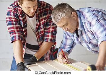 madeira, sênior, medidas, carpinteiro, prancha