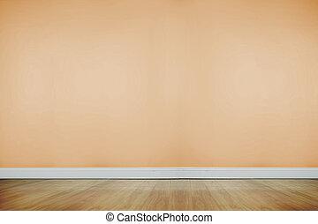 madeira, sala, chão