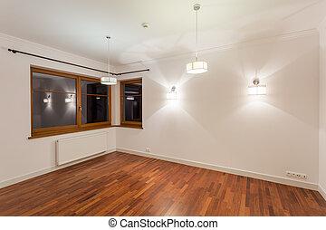 madeira, sala de estar, chão