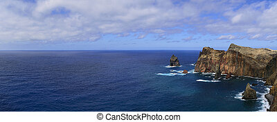 Sea Landscape Photograph in Funchal, Madeira, Portugal