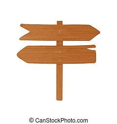 madeira, signboard, ou, guideboard, feito, de, pointed,...