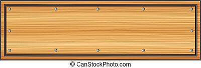 madeira, signboard, vazio