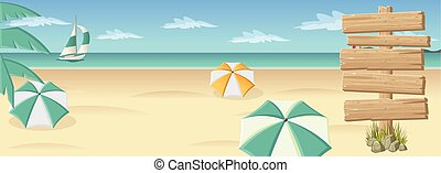 madeira, sinal, ligado, bonito, praia tropical