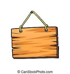 madeira, tábua, sinal
