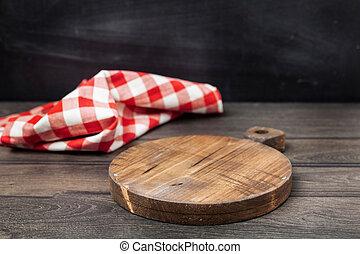 madeira, tabela, com, espaço cópia