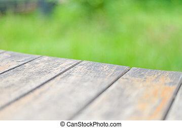 madeira, tabela, com, livre, space.