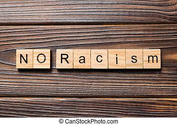 madeira, texto, tabela, racismo, escrito, block., conceito, ...