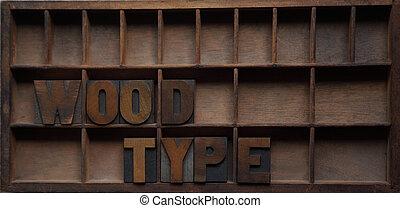 madeira, tipo, em, um, caso