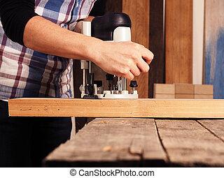 madeira trabalhando, fundo