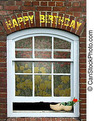 madeira, tulipa, aniversário, sapato