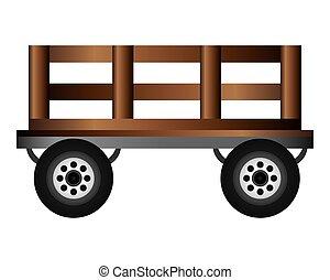 madeira, vagão, ícone